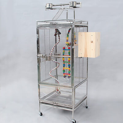 stainless-steel-parrot-cage-perspex